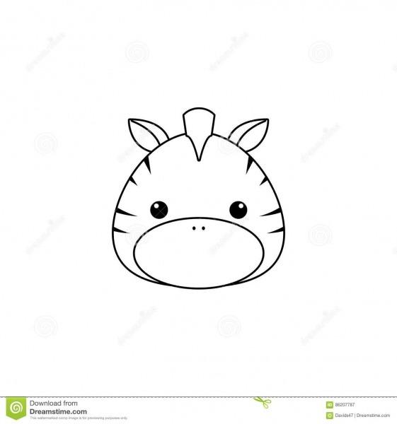 Cara Do Desenho Da Zebra Ilustração Do Vetor  Ilustração De