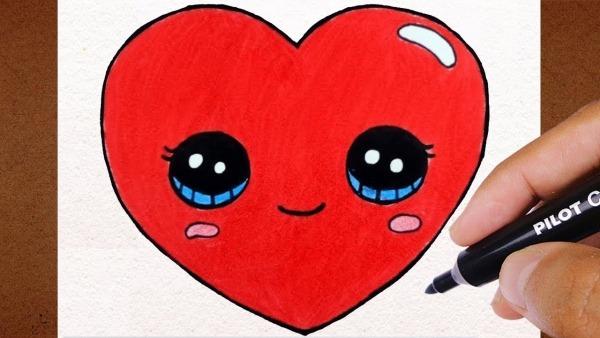 Kawaii Como Desenhar Coração Kawaii