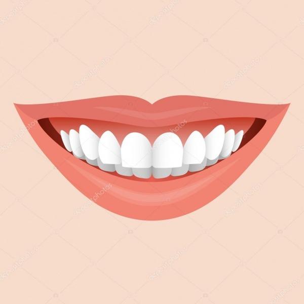 Sorrindo A Boca Com Dentes Brancos  Ilustração Por Ideia Criativa