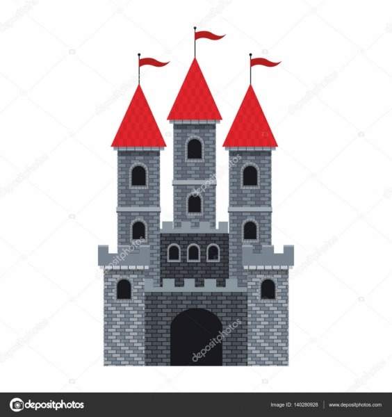 Desenho De Castelo Medieval — Vetores De Stock © Jemastock  140280928