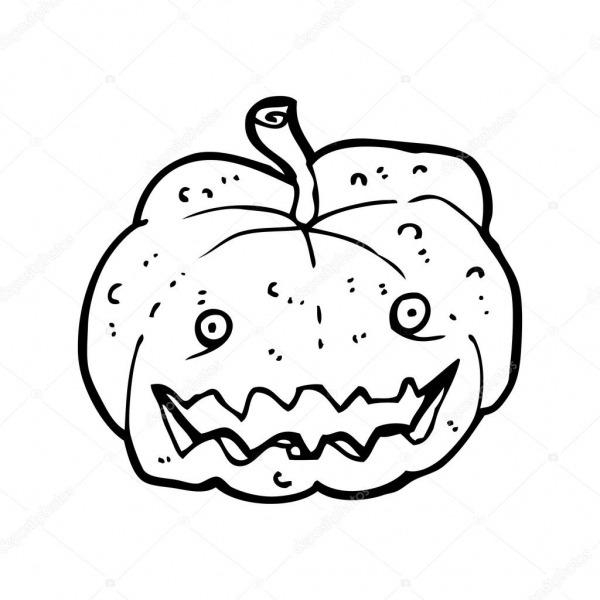 Desenho De Abóbora De Halloween Assustador — Vetor De Stock