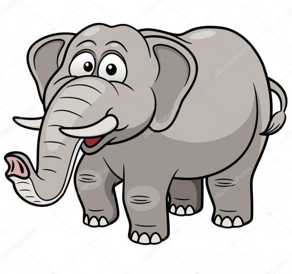 Elefante Dos Desenhos Animados — Vetor De Stock © Sararoom  29088727