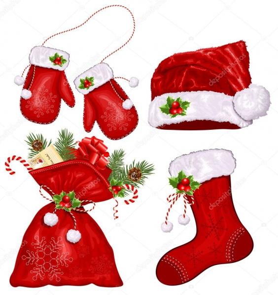Vector Conjunto De Símbolos De Natal — Vetor De Stock © Ivelly