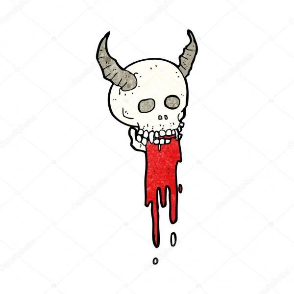 Crânio De Halloween Assustador Dos Desenhos Animados — Vetor De
