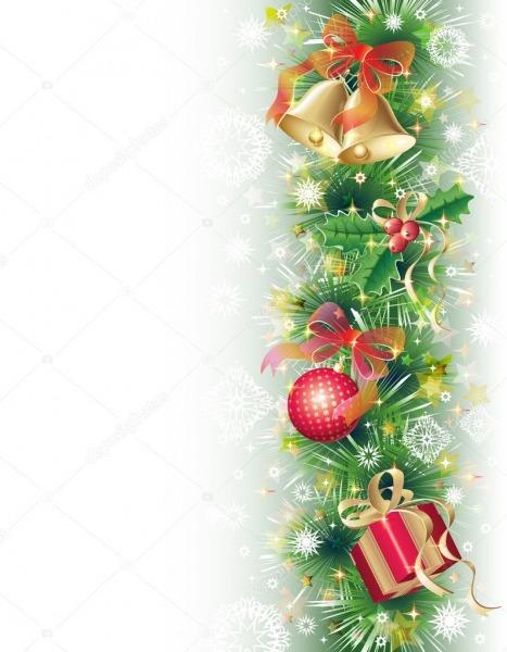 Fundo Com Símbolos De Natal — Vetor De Stock © Maribaben  4336173