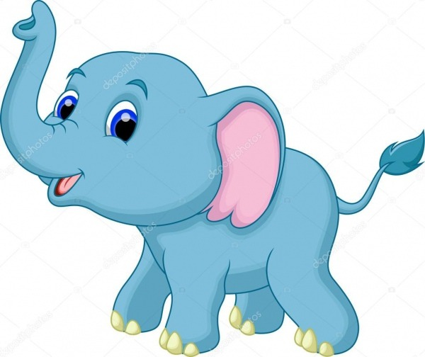Desenho De Elefante — Vetor De Stock © Irwanjos2  53083611