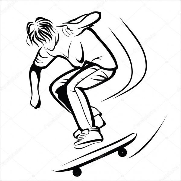 Desenho De Skatista — Vetores De Stock © Fxm73  81526586