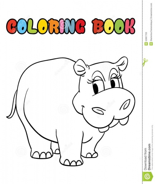 Desenho De Hipoptamo Para Colorir