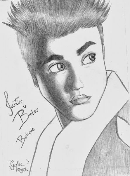 Desenhos Para Pintar  Desenhos Do Justin Bieber Para Colorir