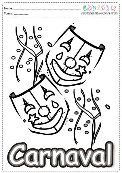 Desenhos De Carnaval Para Pintar – Pampekids Net