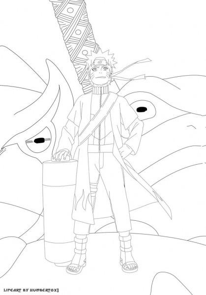 Naruto Modo Sennin Para Colorir