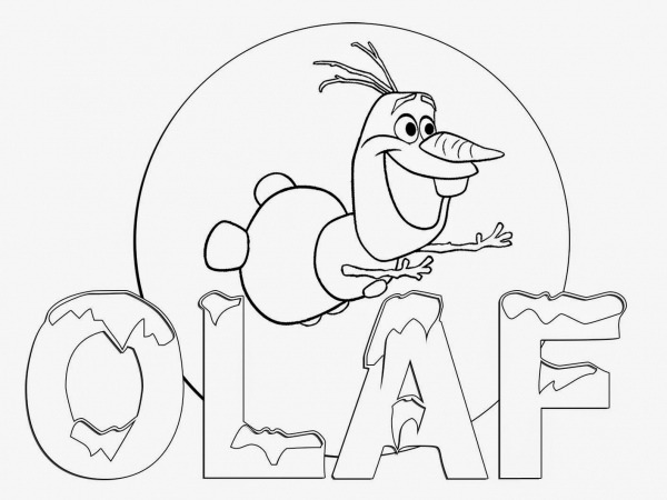 Desenhos Para Colorir Frozen Olaf – Pampekids Net