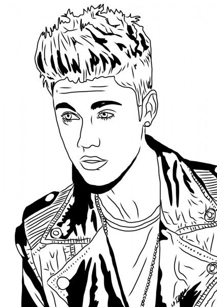 Desenhos Para Colorir Justin Bieber 1