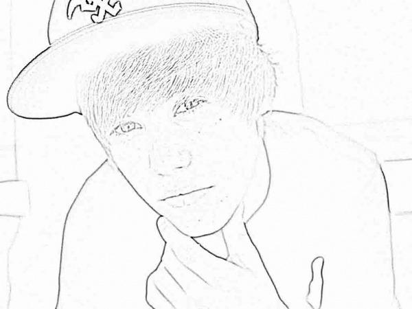 Desenhos Para Colorir Justin Bieber 2