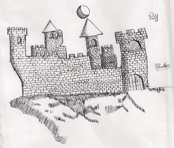 Petto Di Gingillo  Sketches De Castelos E Paisagens Medievais