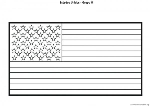 Copa 2014 – Bandeiras Das Seleções Do Grupo G – Alemanha, Estados