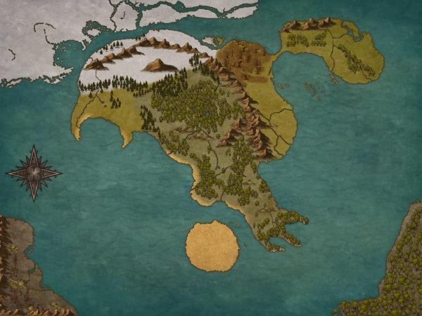 Mapa Do Mundo Que Criei Para O Meu Universo De Rpg Medieval  Sem