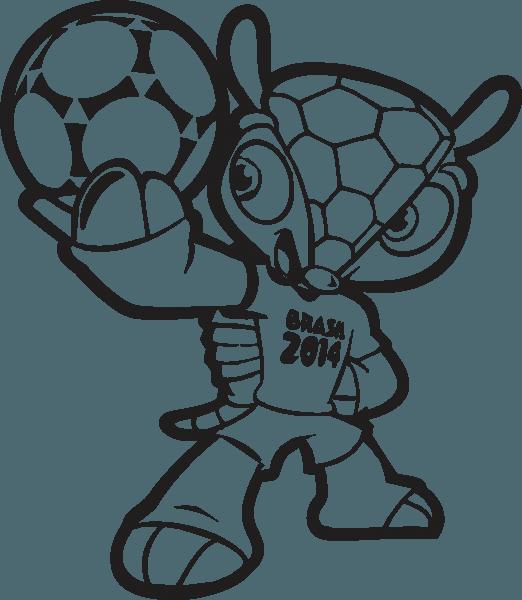 Desenhos Do Fuleco Para Colorir – Pampekids Net