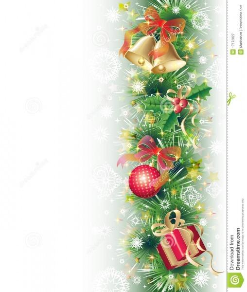 Fundo Com Símbolos Do Natal Ilustração Do Vetor