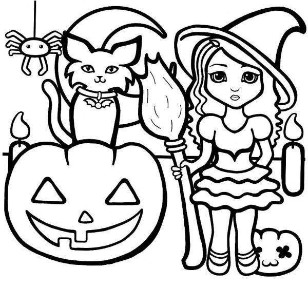 Desenhos De Halloween Para Imprimir E Colorir