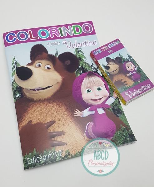 Kit Colorir Masha E O Urso No Elo7