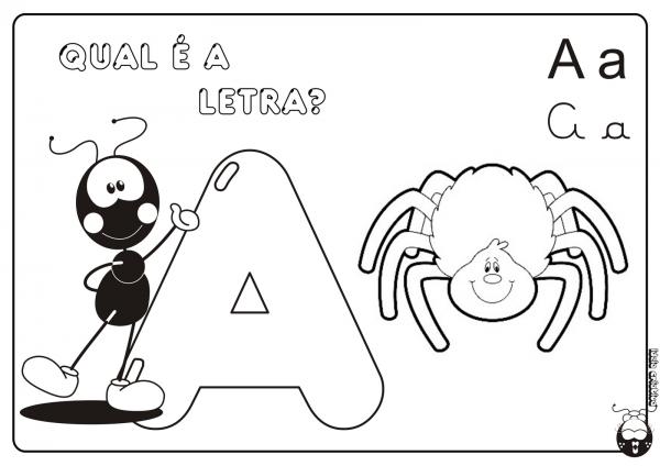 Letra I Para Colorir – Pampekids Net
