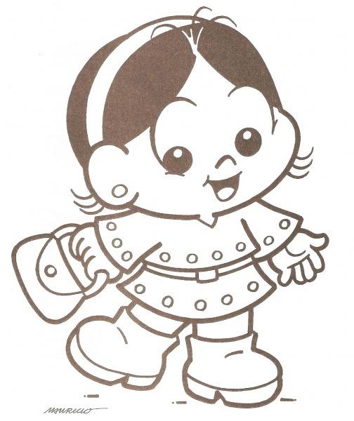 Desenho De Magali Baby Indo Ao Shopping Para Colorir