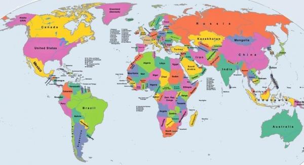 ⊛ Mapamundi Político 🥇 【 Los Mejores Mapas Políticos Del Mundo 】