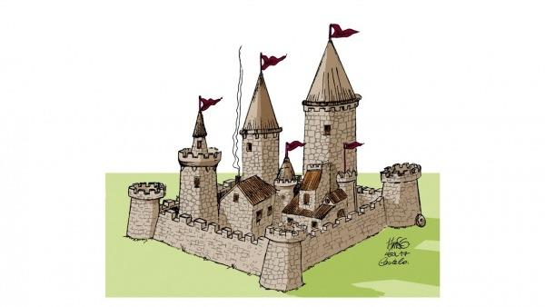 Como Desenhar Um Castelo Medieval Com Tiburcio Em Tempo Real E Com
