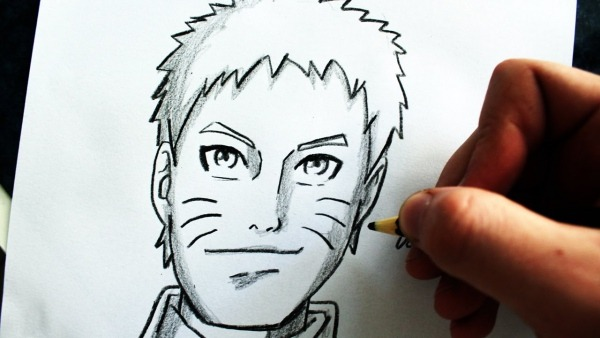 Como Desenhar Naruto Uzumaki [naruto 7º Hokage]