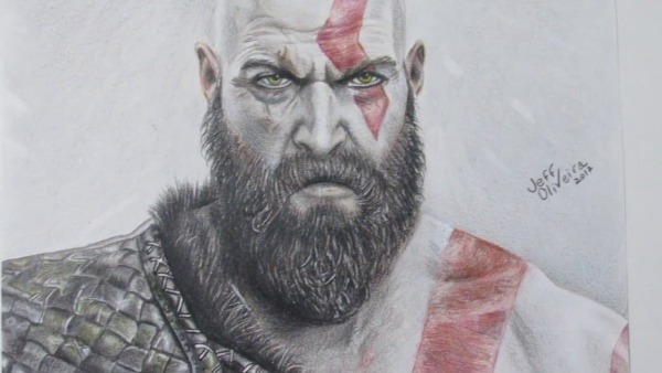 Speed Drawing Kratos