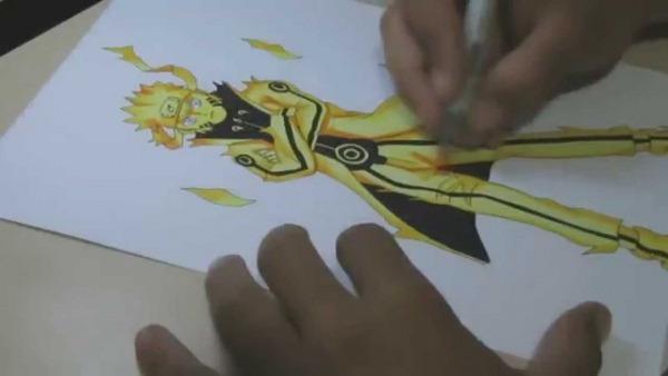 Desenhando Naruto Modo Kyuubi