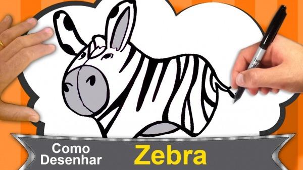 Como Desenhar Uma Zebra Infantil