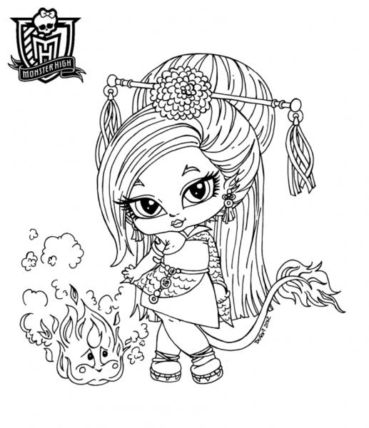 Desenhos Para Imprimir Da Monster High Baby – Pampekids Net