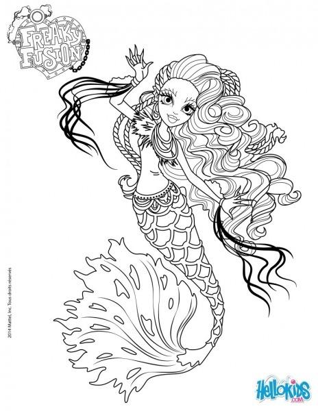Desenhos Para Colorir De Monster High, Freaky Fusion   Sirena Von