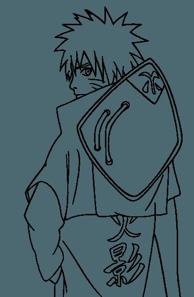 Desenho De Naruto Hokage Para Colorir