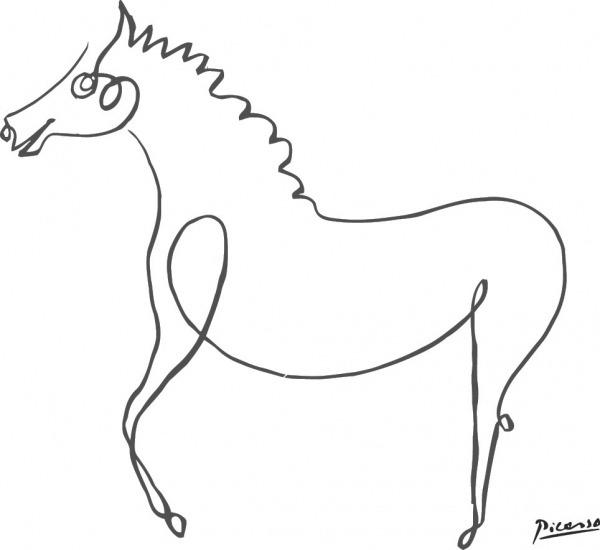 Pablo Picasso O Cavalo Imprimir Breve Animais Minimalista Da Arte