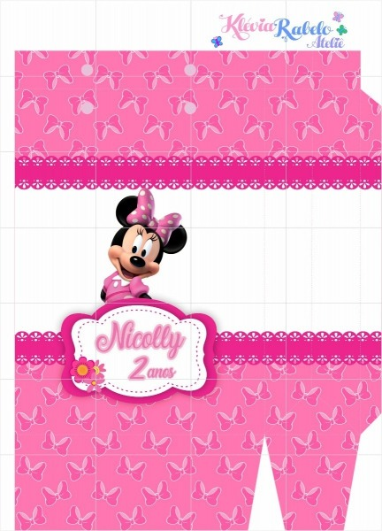 Sacola Personalizada Minnie Rosa (para Imprimir Em Casa)