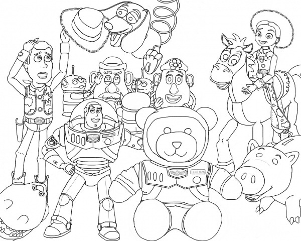 Desenhos Para Colorir Do Toy Story 3 – Pampekids Net