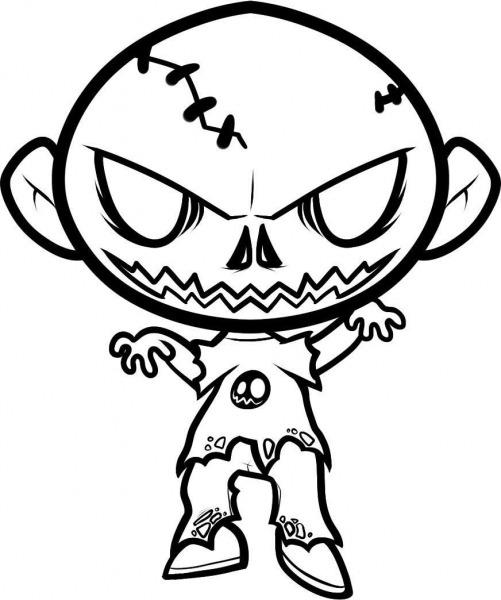 Desenho De Zumbi Do Terror Para Colorir
