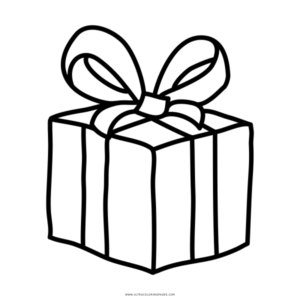 Presente De Natal Desenho Para Colorir – Coloring City