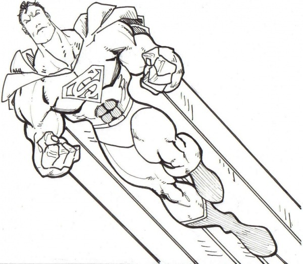 Resultado De Imagem Para Desenho Para Pintar Superman