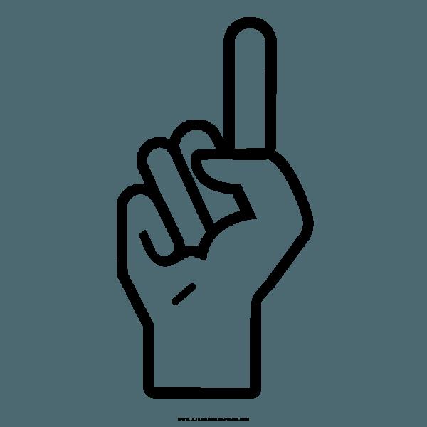 Mão Dedo Desenho Para Colorir