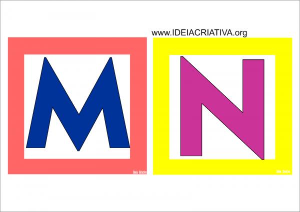 Alfabetos Ideia Criativa  Alfabeto Quadradinho Colorido Para