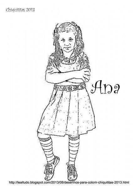 Desenho Da Chiquititas Para Colorir