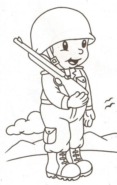 Desenho Para Colorir Dia Do Soldado – Pampekids Net