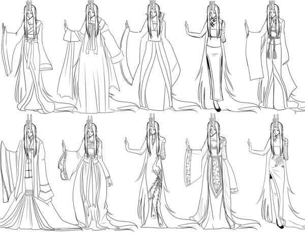 Desenhos Para Colorir Vestidos – Pampekids Net
