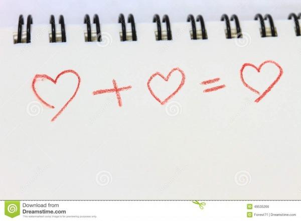 Coração Do Desenho No Caderno Branco Ilustração Stock