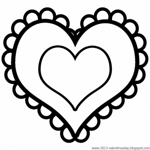 Coração Para Colorir E Imprimir