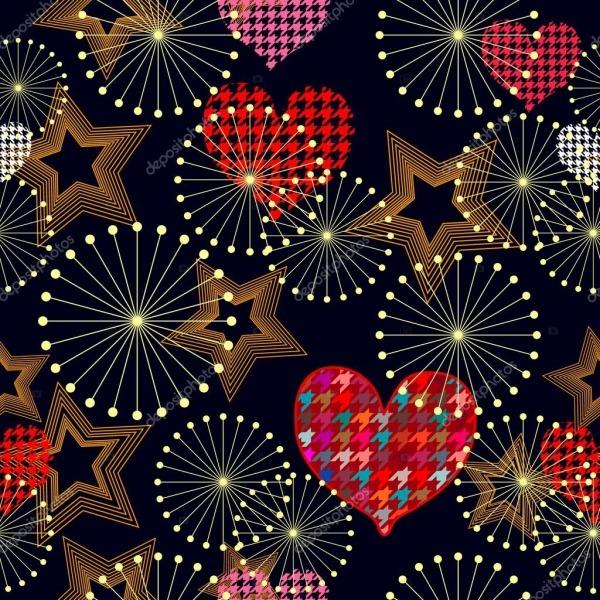 Imprimir Sem Costura Fundo De Dia Dos Namorados Com Corações